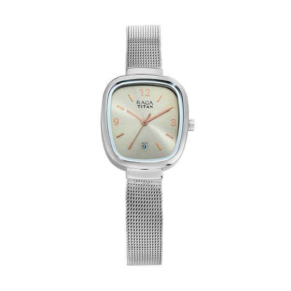 Titan Raga Grey Dial Analog Watch with Date Function for Women 2610SM01 Malaysia