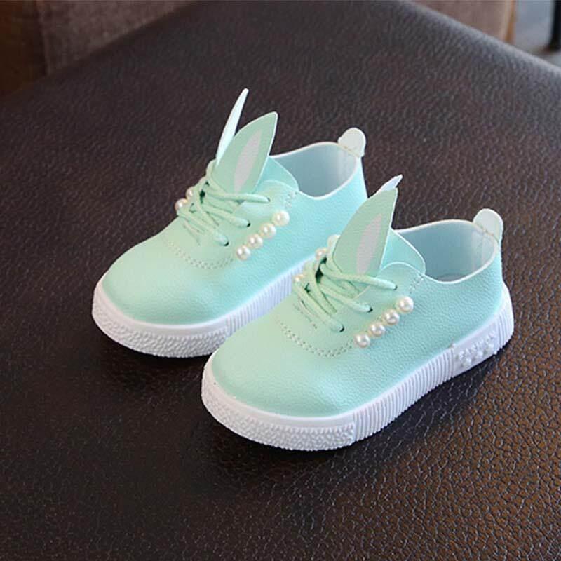 bcf8f0b5712 fashion girls shoes children s pearl princess shoes small children s peas  single shoes Non-Slip Shoes