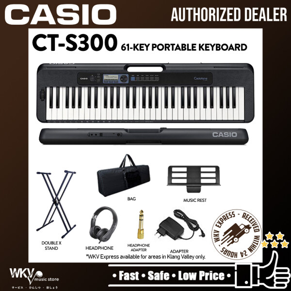 Casio CT-S300 61-Keys Casiotone Electric Keyboard Package with Keyboard Stand, Bag, Headphone (CTS300 / CT S300) Malaysia