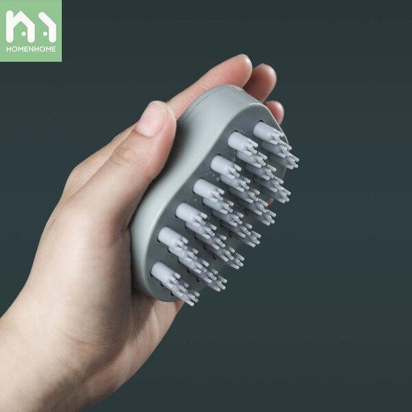 Homenhome Rửa Công Cụ Tóc Bàn Chải Đầu Massage Bàn Chải TPR Chất Liệu Combs Antipruritic Head Scratcher