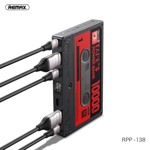 Remax 10000MAh Băng Phong Cách Retro Ngân Hàng Điện USB Pin Ngoài