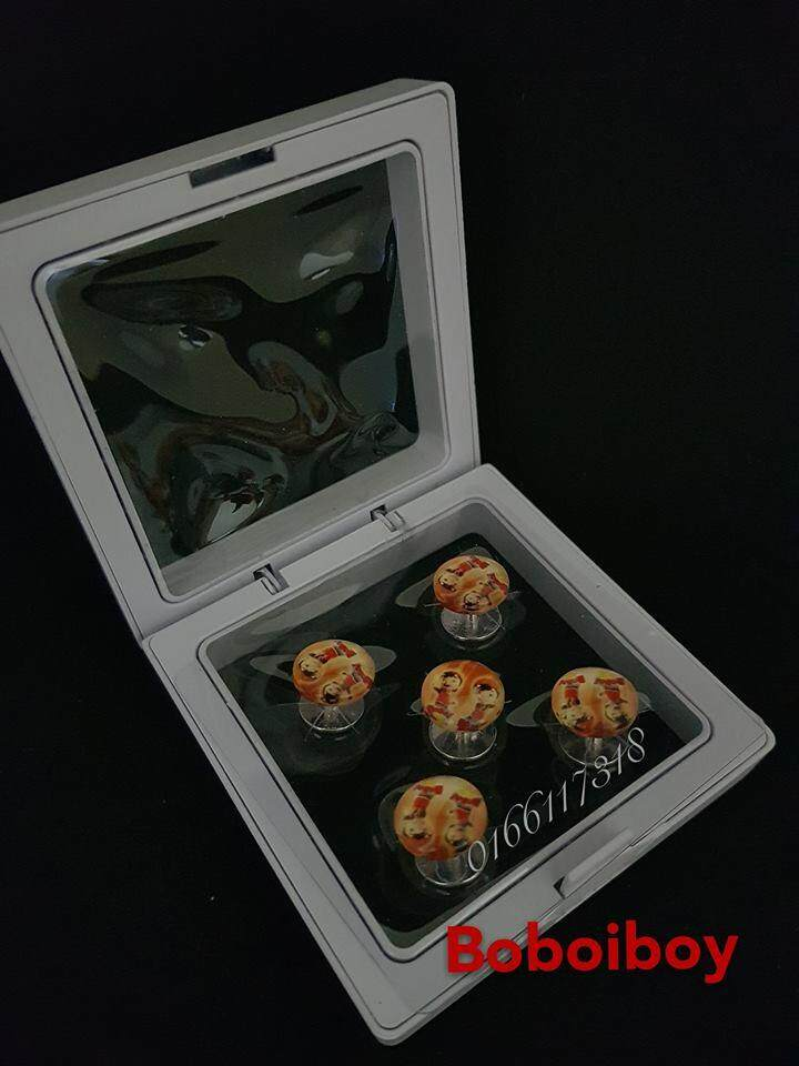 Butang Baju Melayu Bentuk Boboi Boy 5pcs Satu Kotak By Baba Fl Store.