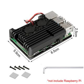 Ốp Hợp Kim Nhôm CNC Quạt Kép 4 Model B Vỏ Kim Loại 4 Màu, Với Tản Nhiệt Cho Raspberry Pi 4B Trọng Lượng Nhẹ Chất Lượng Cao Phổ Thông Hiệu Quả Cao thumbnail
