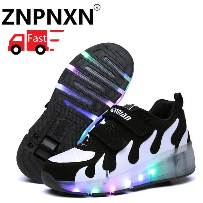 9ed119982a ZNPNXN Children Heelys LED Light Sneakers With One Wheel Boys Girls Roller  Skate Casual Shoe With Roller Kids Girl Sport Shoes Size 28-41