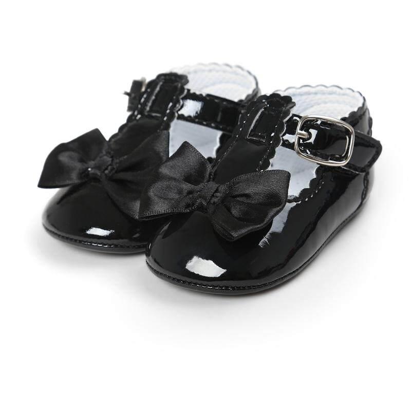Giá bán Bé Gái Giày Đáng Yêu Nơ Da 6 Màu Giày Chống Trơn Trượt Giày Đế Mềm Cho Bé Sơ Sinh Giày Thả con Tàu