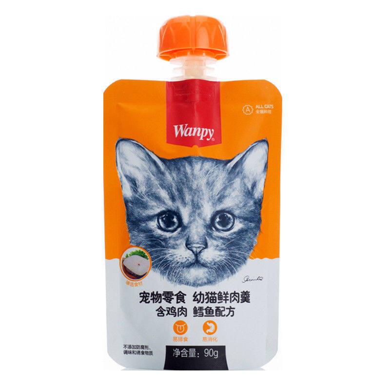 Súp Thịt Tươi Nghịch Ngợm Cho Mèo, Dải Mèo Cưng Ăn Vặt Thức Ăn Dinh Dưỡng Vỗ Béo Đồ Ăn Vặt Cho Thú Cưng Ướt 4 Túi Đồ Ăn Nhẹ Cho Mèo▪