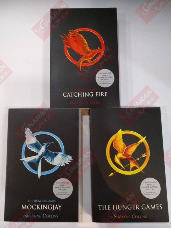 THE HUNGER GAMES 3 books set by SUZANNE COLlINS : English books Malaysia
