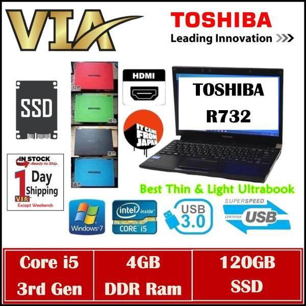 (FREE Mouse & 4 Colors) HDMI Toshiba UltraBook R732~Ci5~4Gb Ram~320Gb~13.3~Slim~Lightweight Malaysia