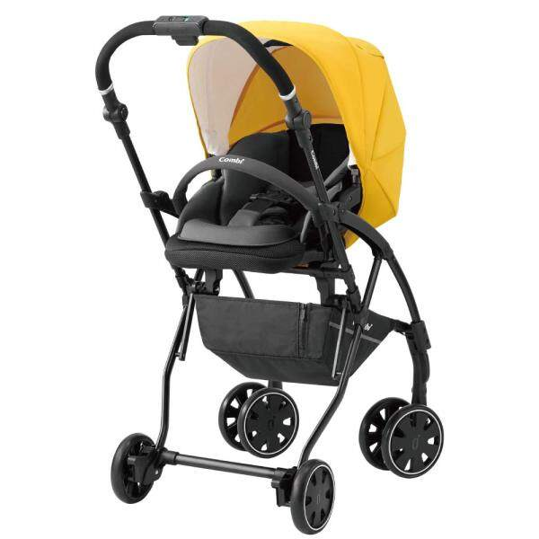 Combi stroller AttO (at) type-S SG standard conformity yellow one month - Singapore