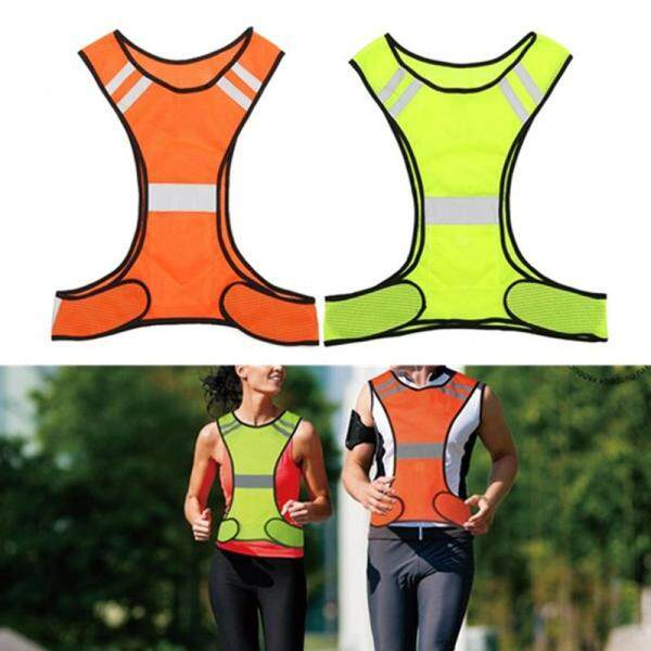 High Visibility Reflective Vest Safety Security Waistcoat Gear Night Work Jacket - Fluorescein