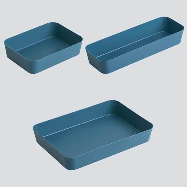 Homenhome 3pcs Drawer Storage Box Desktop Rectangular Cosmetic Box