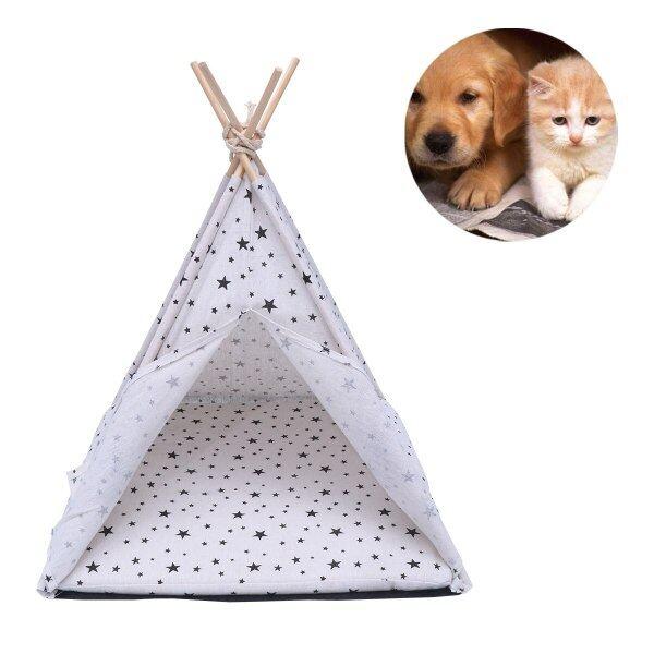 Cũi Chó Và Nhà Cho Mèo Thú Cưng Nhỏ Cho Vật Nuôi, Lều Di Động, Có Thể Giặt Thở Lồng