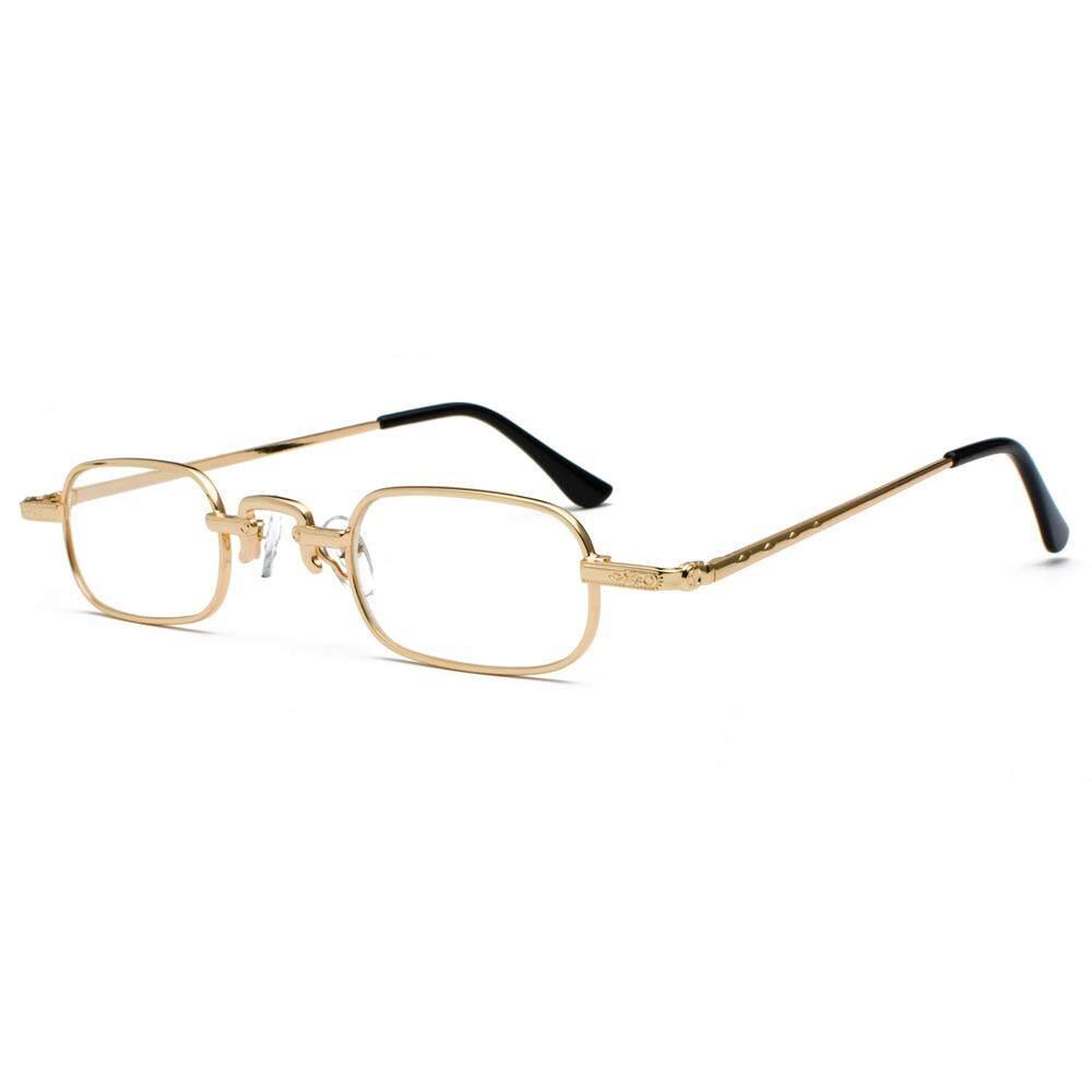 a0bd3b4445 Small Narrow Rectangle Eyeglasses Men Retro 2019 Clear Lens Metal Frame  Male Glasses Frame for Women Square Black Gold Silver