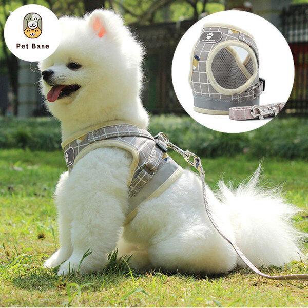 Mềm Lưới Độn Dog Khai Thác Với Dây Xích, Phản Quang Phản Chiếu Vest, Cho Chó Mèo Nhỏ Vừa