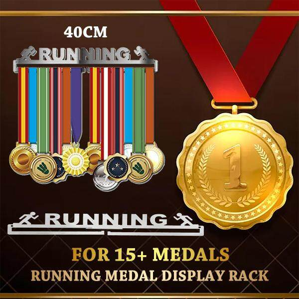 Running medal hanger Sport medal display rack Medal holder for 15+ medals