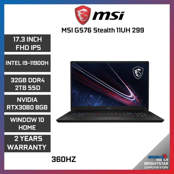 MSI New Laptop GS76 Stealth 11UH 299 (17.3 Inch FHD / Intel Core / I9 11980HK / 32GB (16x2) RAM / RTX 3080 8GB / Windows 10 / 2 Years Warranty) Malaysia