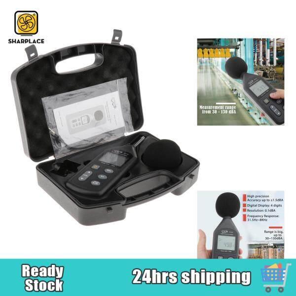 Sharplace Noise Sound Level Meter 30-130db Digital Decibel Moniter Tester LCD Display with Backlight