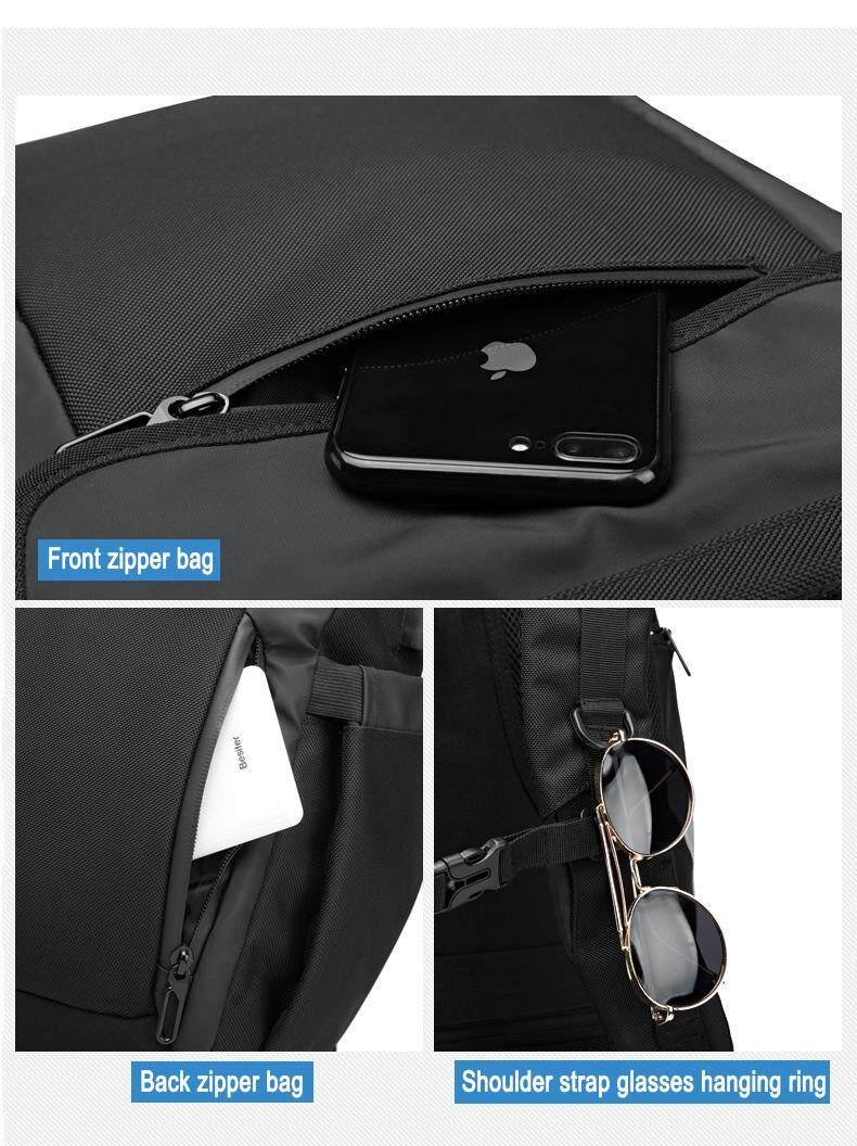 Image 4 for Yiliongdaqi ใหม่ผู้ชายกระเป๋าเป้สะพายหลังมัลติฟังก์ชั่ USB ชาร์จแล็ปท็อปกระเป๋าแฟชั่นกระเป๋านักเรียน