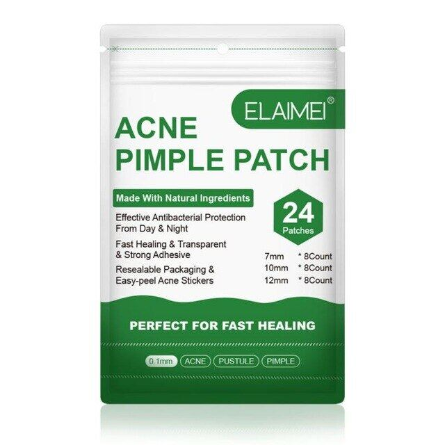 24pcs Hydrocolloid Acne Invisible Pimple Master Patch Skin Tag