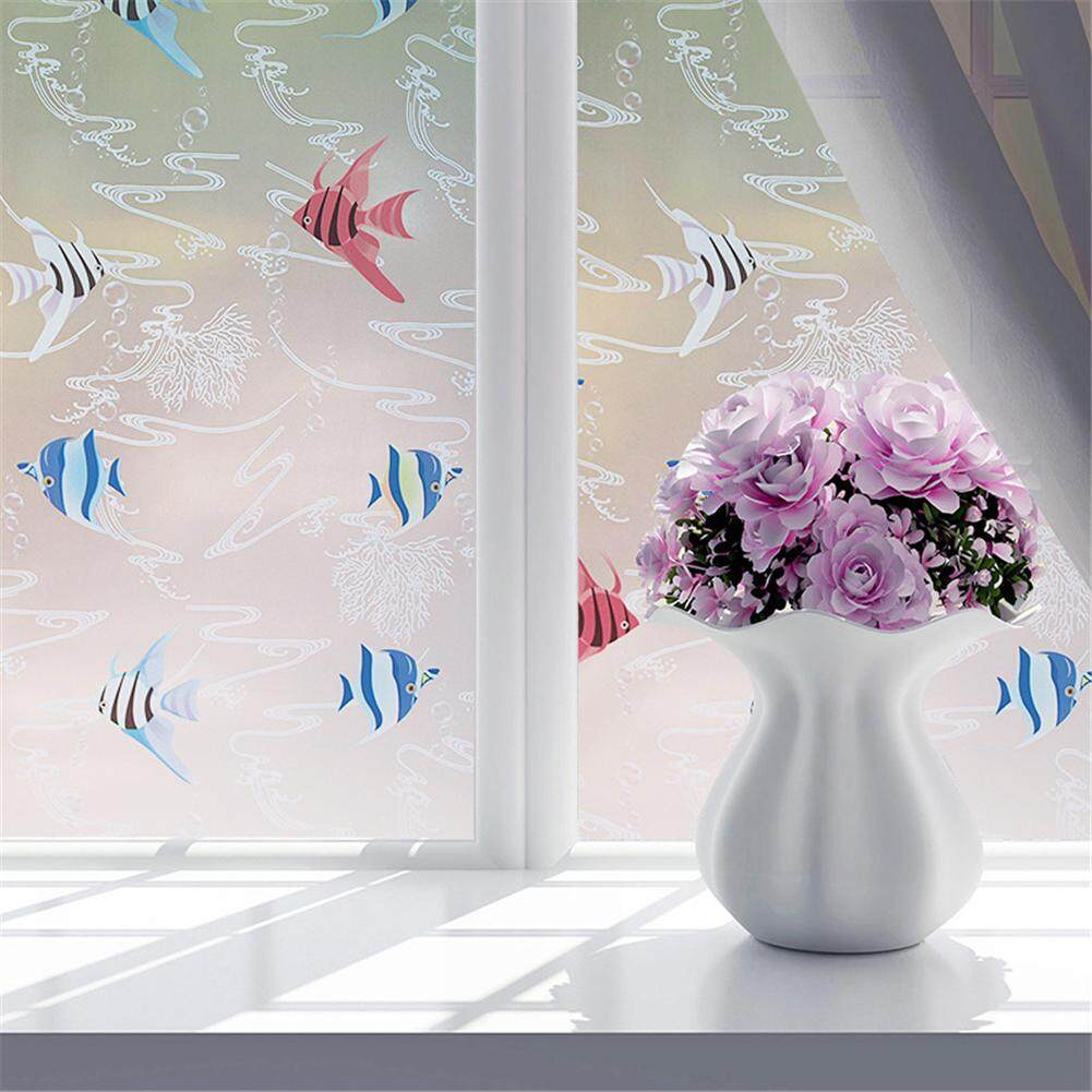 [okwish]Window Sticker and Films 60 x 200cm Bathroom Window Self-adhesive Sticker Glass Film Decoration
