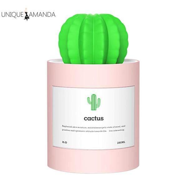 280ml Desktop Air Humidifier Cactus Mini USB Office Home Cute Aromatherapy Mist Maker Oil Diffuser Singapore