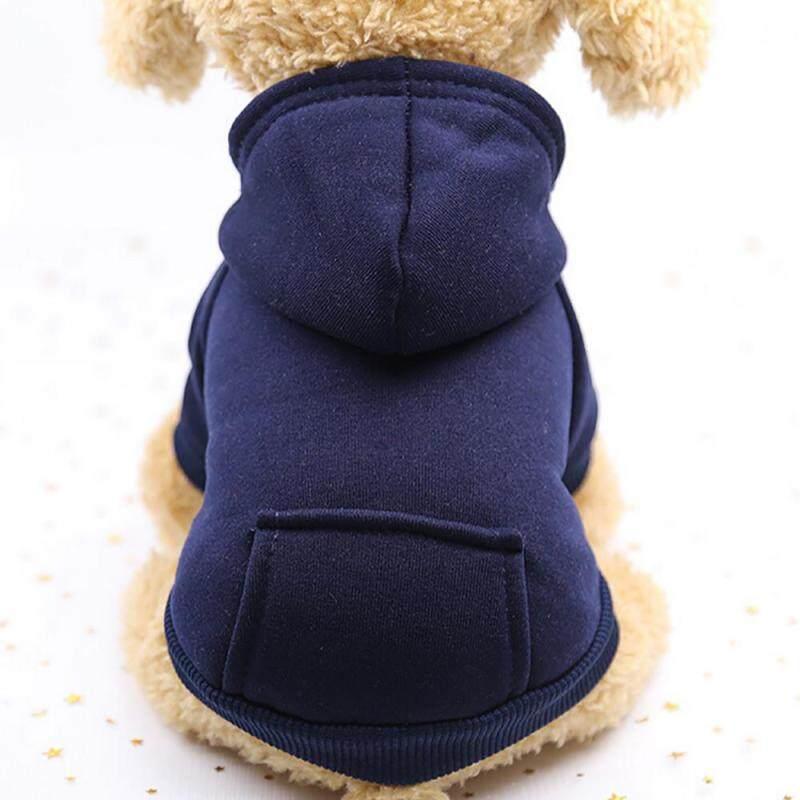 【Pet Shop】Free Vận Chuyển Polyester Hoodied Áo Nỉ Với Túi Quần Áo Cho Chó Quần Áo Thú Cưng