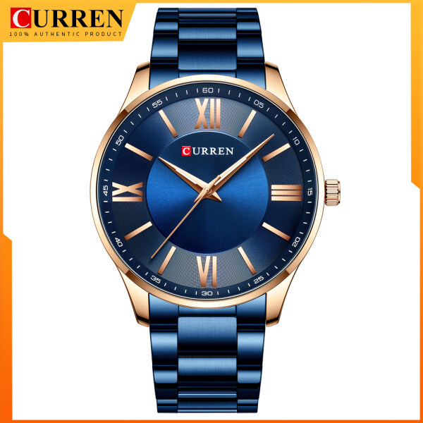CURREN Stainless Steel Waterproof Mens Watches New Simple and Classic Quartz Business Watch Thin Clock for Men 8383 Malaysia