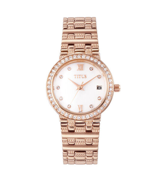 Solvil et Titus W06-02526-003 Womens Quartz Analogue Watch in Silver White Dial and Stainless Steel Strap Malaysia