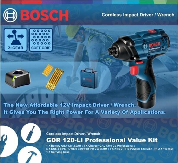 BOSCH Cordless Impact Driver / Wrench  GDR 120-LI Professional Value Kit