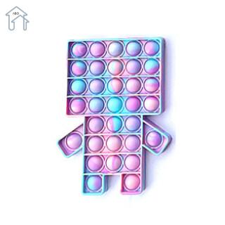 ABO Dụng Cụ Đẩy Bong Bóng Pop It 2021 Bong Bóng Đẩy Đồ Chơi Đồ Chơi Cảm Giác Fidget, Dụng Cụ Giảm Căng Thẳng Cho Trẻ Em Và Người Lớn thumbnail