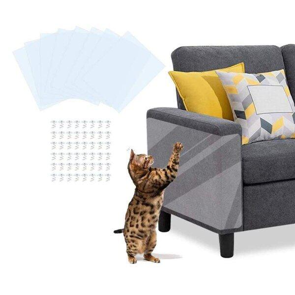 40 # Couch Cat Guards Mat Scraper Cây Mèo Cào Móng Bảo Vệ Bài Sofa Cho Mèo Scratcher Paw Pads Đồ Nội Thất Cho Thú Cưng