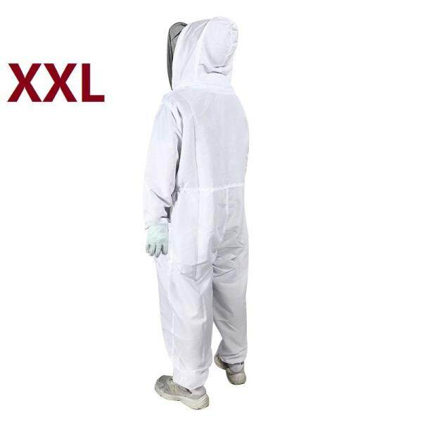 L/XL/XXL White Professional Beekeeping PVC Special Protective Equipment Bee Keeping Full Body Anti-Bee Coat Beekeeper Suit Hat