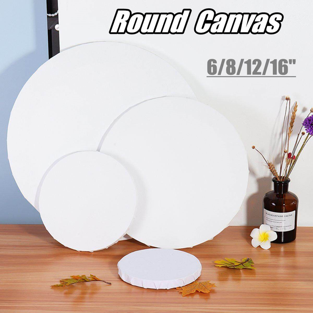 Wooden Frame Blank Round Canvas Boards Diy Acrylic Oil Paintings#40cm By Glimmer.