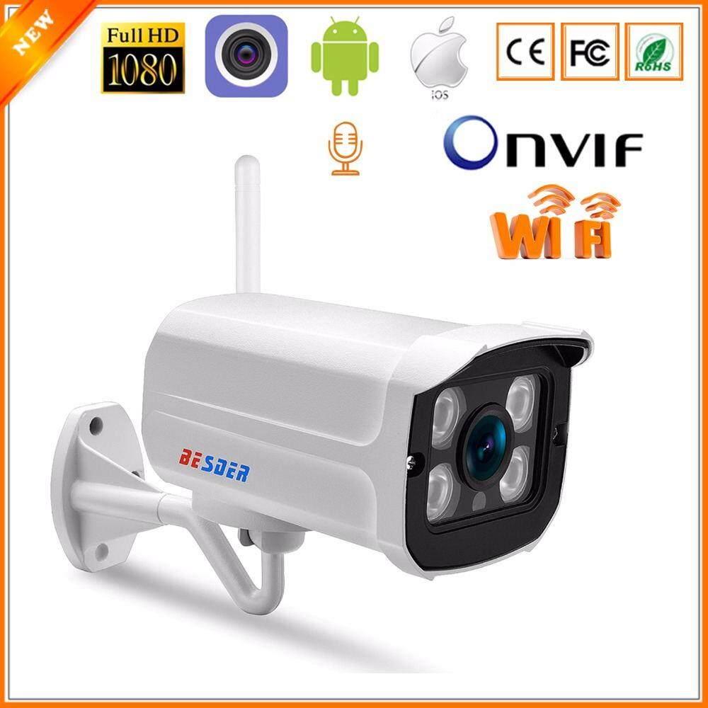 BESDER IP Camera CCTV 720P 1080P Wifi Network Audio Camera Onvif Security  Line Wireless Surveillance Camera Ip with Microphone SD Card Slot Metal