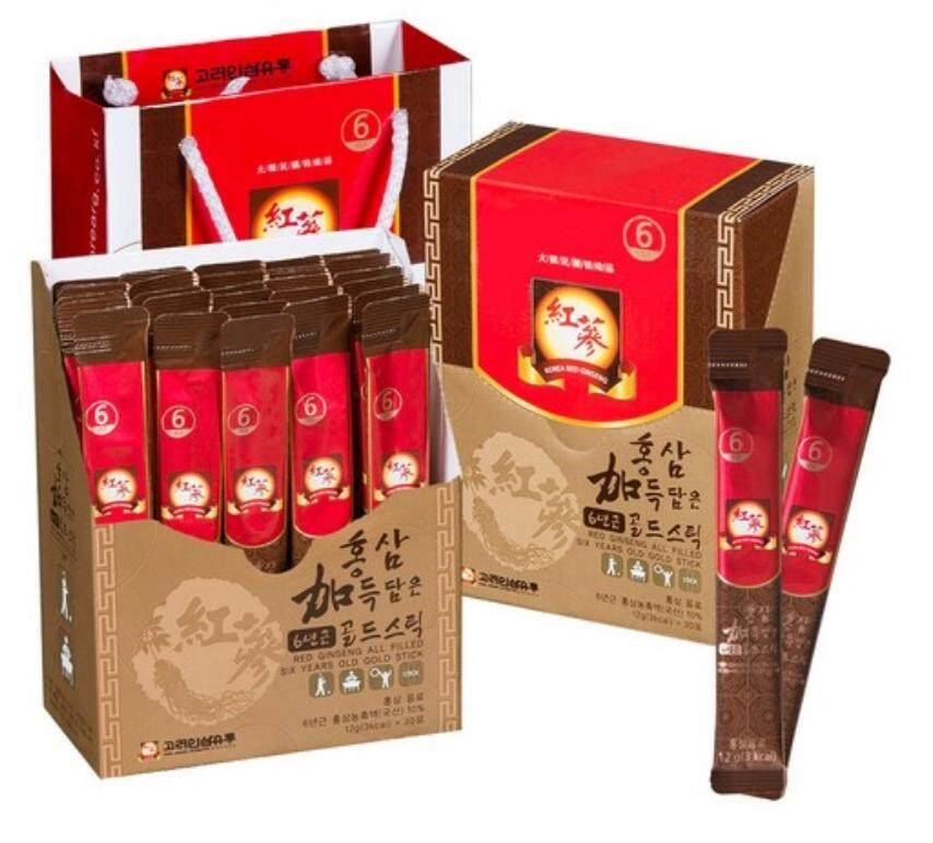 korea ginseng 6 Year Old Korean Red Ginseng Extract 365 Stick 12g X 30pouch