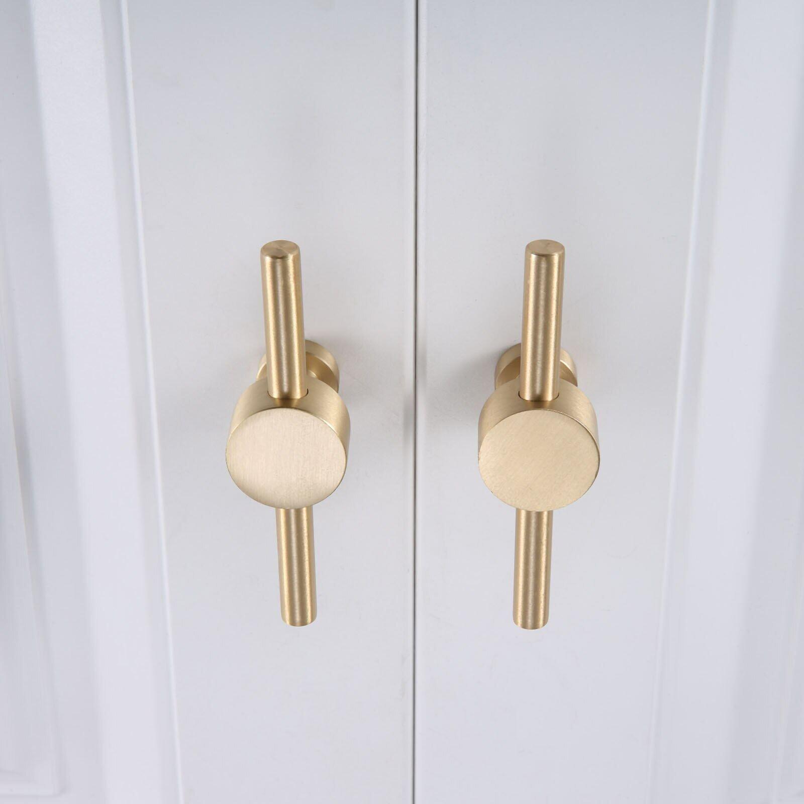 1pc 90mm T Bar Furniture Knobs Pulls Copper Kitchen Cabinet Door Handles Drawer Knobs Pull Dresser Handles Hardware Lazada