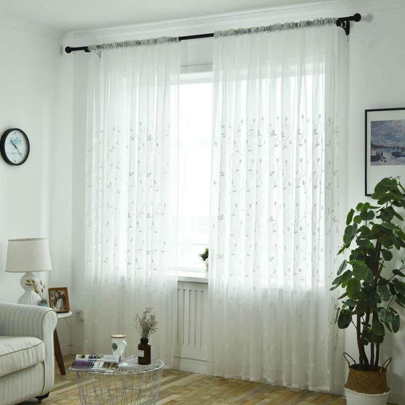 Thêu In Ấn Curtain Rèm Cửa Sổ Vải Tuyn Sợi Gia Dụng