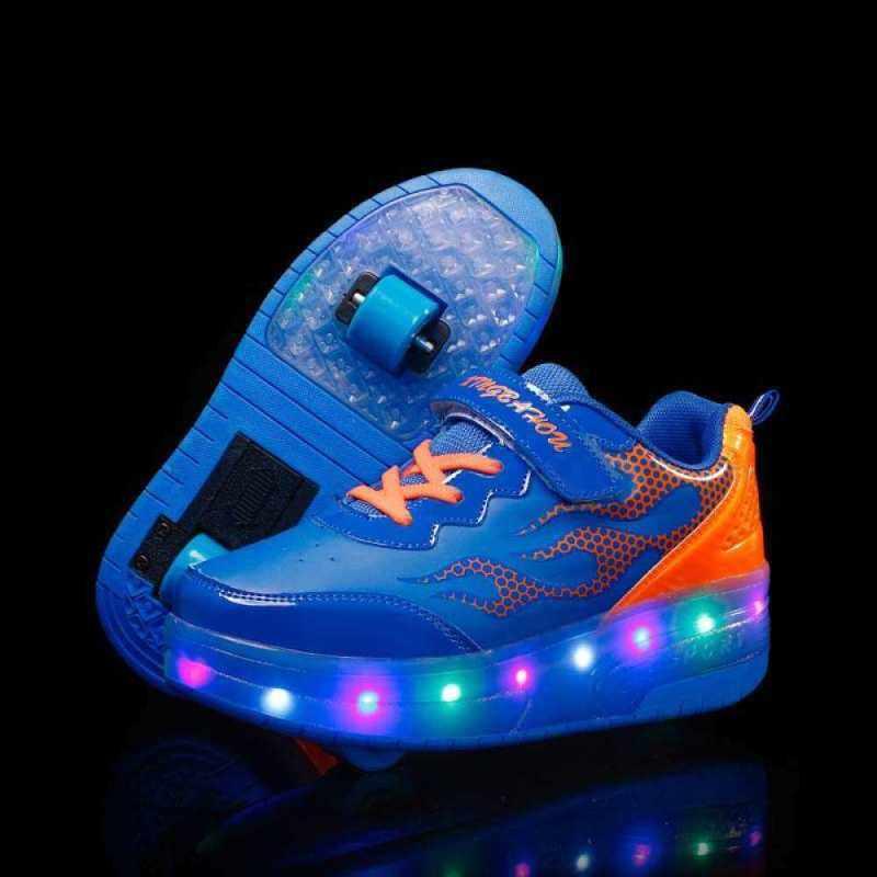 Phân phối Moven USB Chargable Đèn LED Lên Giày Có Bánh Trượt Giày Sneaker Dành Cho Bé Trai Bé Gái Trẻ Em