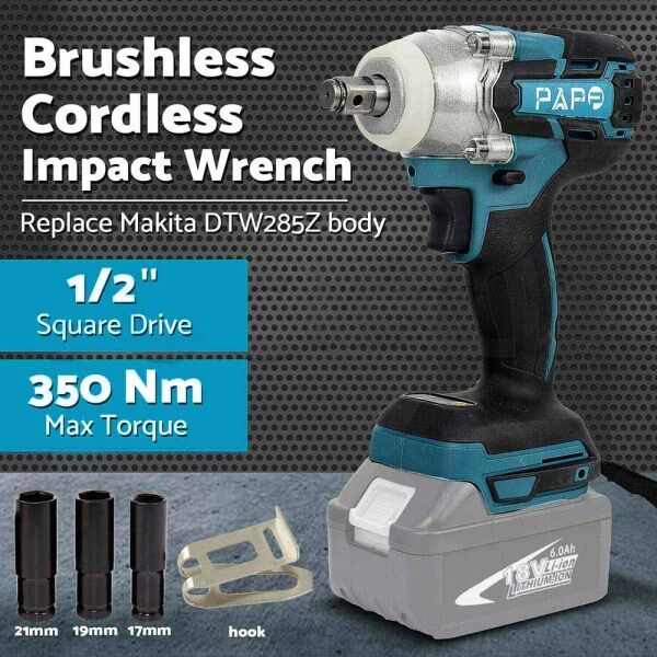 Replacement For Makita DTW285Z LXT Brushless 1-2in Electric brake Impact Wrench 18V Body Only
