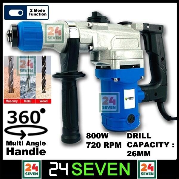 [ READY STOCK ] Keepfix 800w Rotary Hammer 2 Mode 26mm / Demolition Drill
