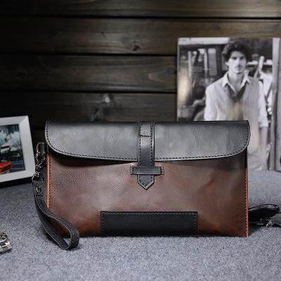 Men Fashion Retro Casual Horse Leather Clutch Bag