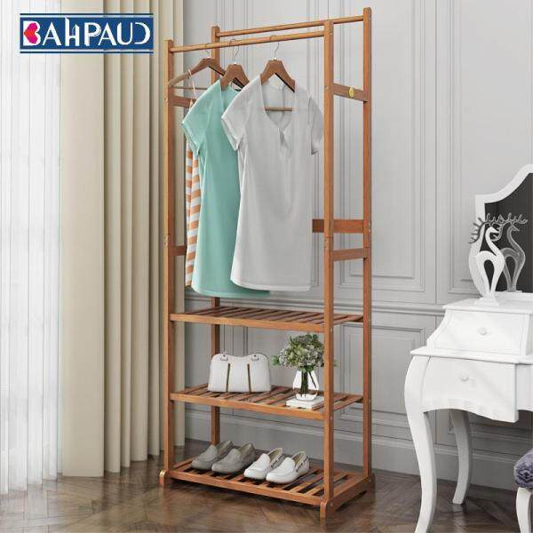 Bahpaud Bamboo Floor Coat Rack Creative Modern Multi-purpose Hanger Rack