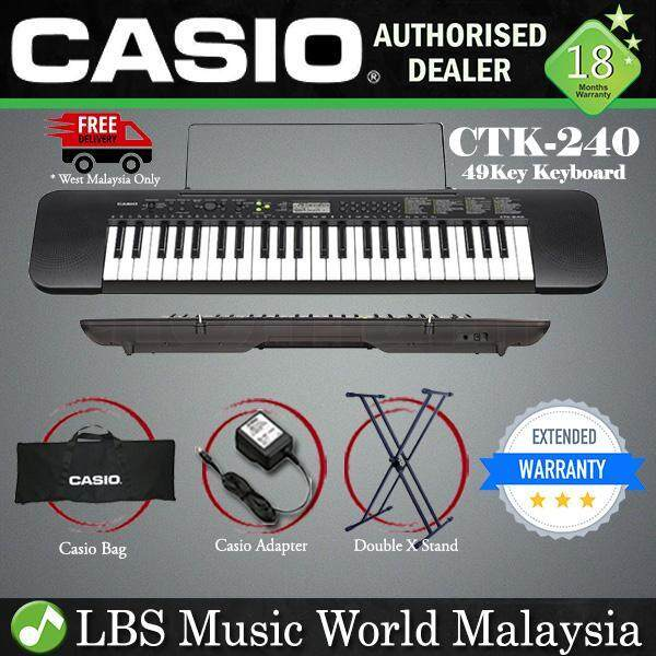 CASIO CTK-240 49-Keys Standard Keyboard With stand (CTK 240 CTK240) Malaysia