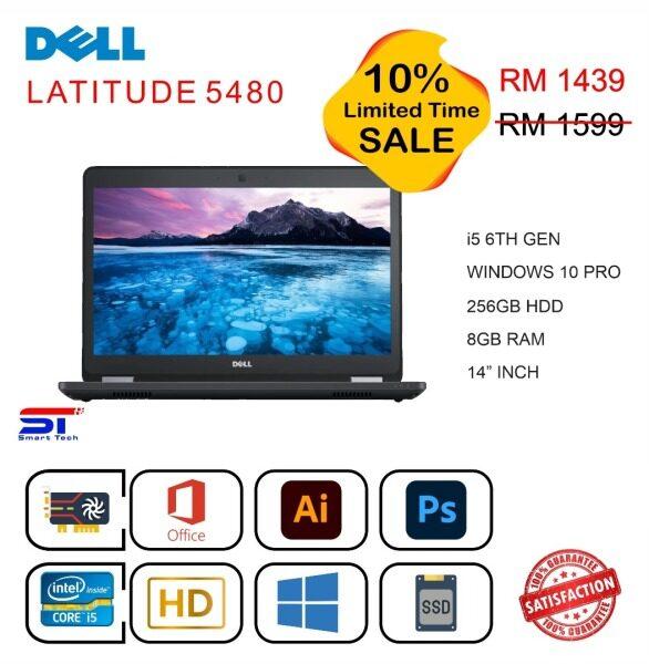 🔥 LAPTOP MURAH 🔥 Dell Latitude 5480 - i5-6th Gen 8GB | 128GB RAM | SSD - 14 inch Malaysia