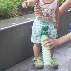 Kids Boy Girl Bình Đựng Nước Tiểu Di Động Ngoài Trời Xe Bô 600Ml Màu Xanh Lá Cây *