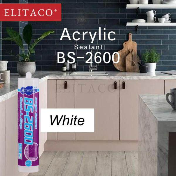 ELITACO Bossil Vtech Acetic Silicone/Sanitary/Acrylic/Construction Adhesive Sealant Waterproof and Anti-mildew Indoor Outdoor Use