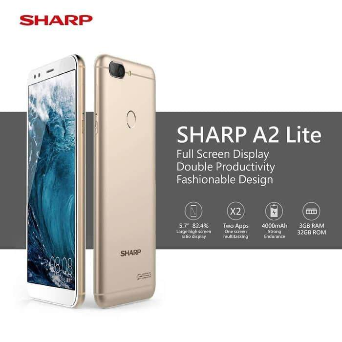 SHARP A2 Lite, 5 7 inch IPS 18:9, 3gb+32gb, Dual camera, Dual Sim,  Fingerprint (Original Import New)