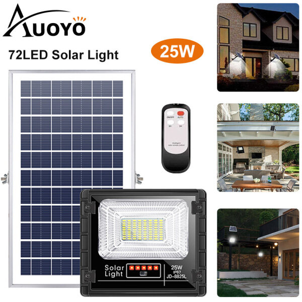 Auoyo 72 LED Solar Lights Outdoor Lighting 5M Cable Remote Control COB Wall Light Motion Sensor Lamp IP65 Waterproof Wall Lamp Solar Powered Lights Adjustable for Front Door Pathway Garden Yard