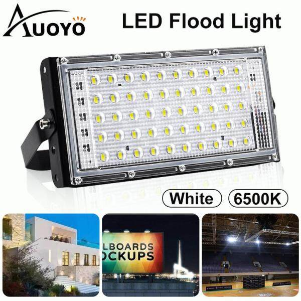 Auoyo Đèn LED Chiếu Sáng Ngoài Trời Đèn Chiếu Sáng Cảnh Quan 50W Chống Nước IP66 Đèn An Ninh Siêu Sáng Dùng Ngoài Trời Sân Vườn LED Flood Lights