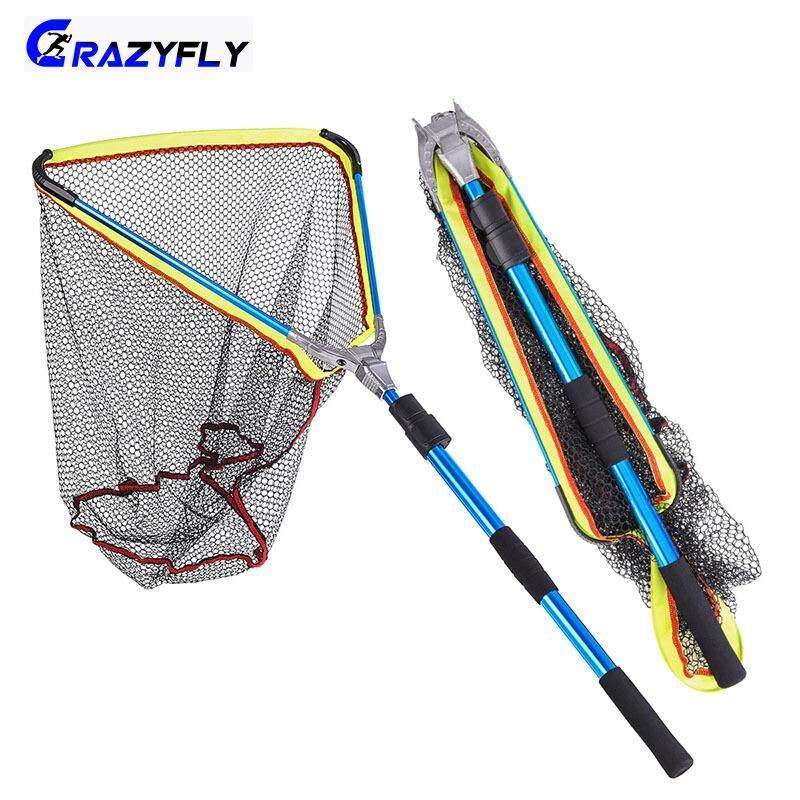 Fishing Landing Net Retractable Telescopic Pole Foldable Net Aluminum Alloy